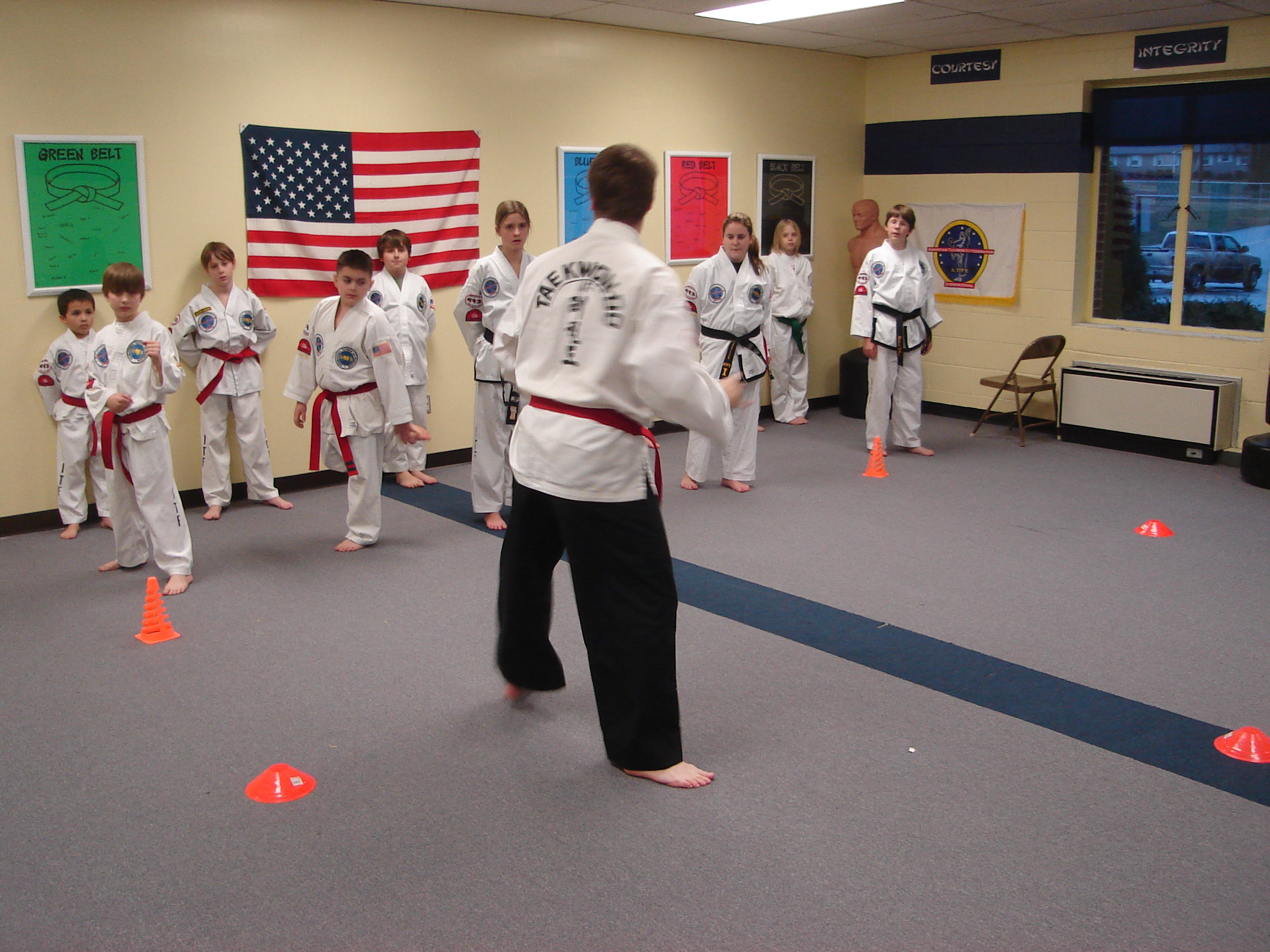 Black and red belt class