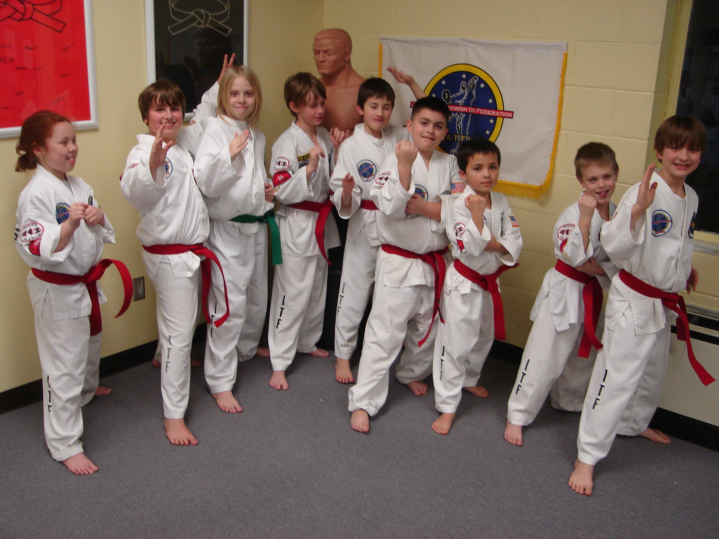 Red belts trying to be goofy